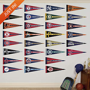 MLB Pennant Collection Fathead Wall Decal